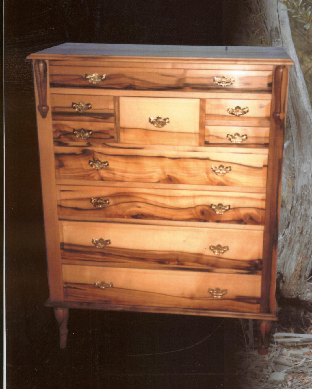 solid sassafras chest of drawers
