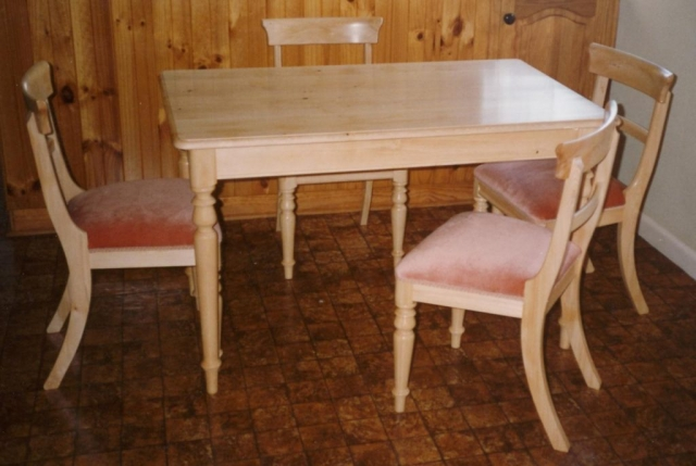 tasmanian made dining table and chairs