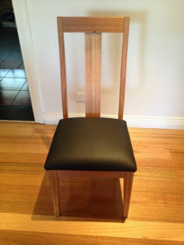 modern oak chair