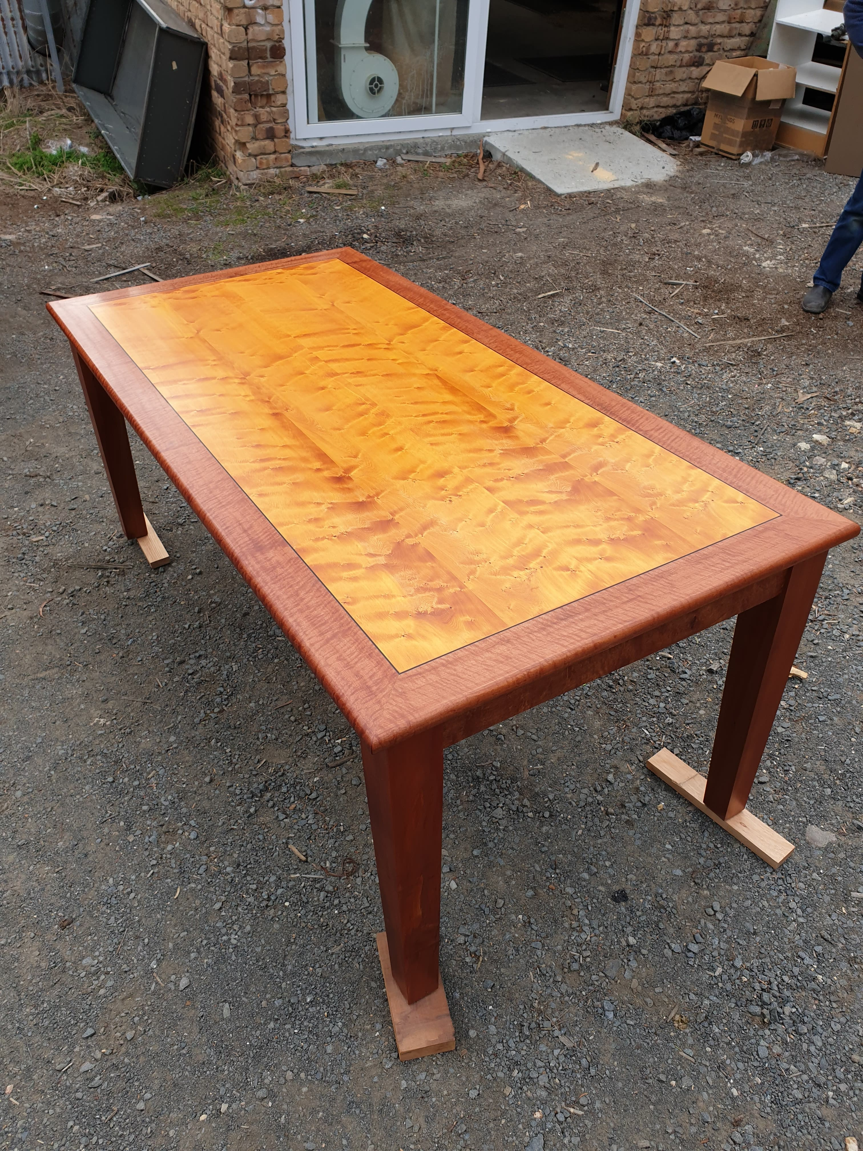 huon pine & myrtle dining table